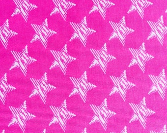 Pink Princess Scribble Stars Cotton lycra knit fabric