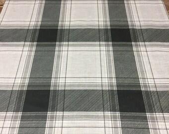 Linen tablecloth,Linen, Grey  and dark Grey Checked, natural linen