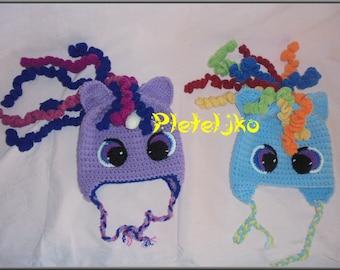 My little pony crochet hat, my little pony