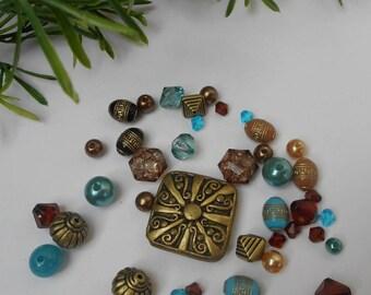 Set of 42 - acrylic beads Lot # 10