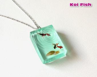 Koi Fish Necklace / Goldfish Necklace