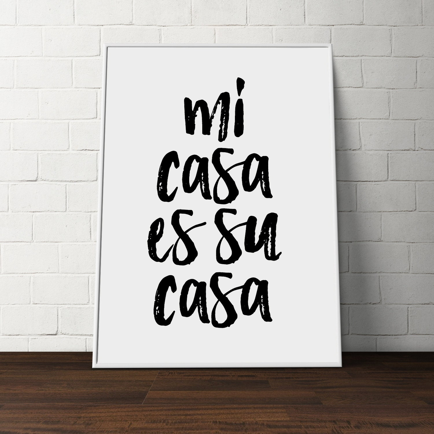 printable quote mi casa es su casa quote poster spanish quote. Black Bedroom Furniture Sets. Home Design Ideas