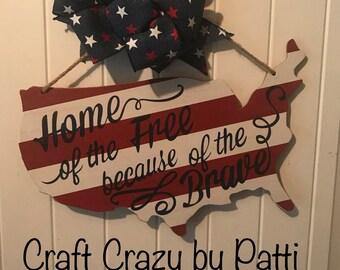 Patriotic Door Hanger