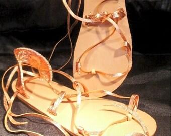 BELLA CARIBE PENNY on Oak-Tan Lace Up Sandals