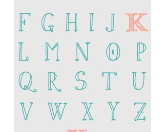ABC Name graphic print