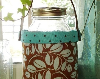 SALE - PDF e-Pattern - Fabric Quart Jar Container Sewing Pattern