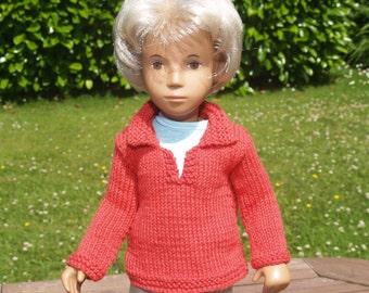 "Sasha 16"" 17"" Doll Cotton Tunic with Back Pleat Detail Knitting Pattern"