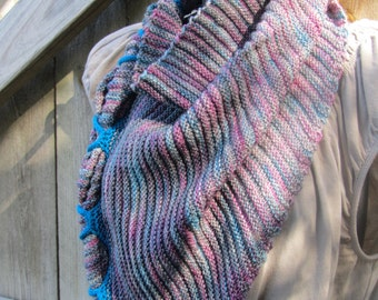 "Hand Knit Madelinetosh Tosh Sock ""Clincher"" Scarf / Kerchief"
