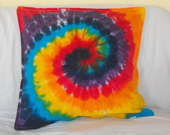 Rainbow Tie Dye Decorative Pillow Cover