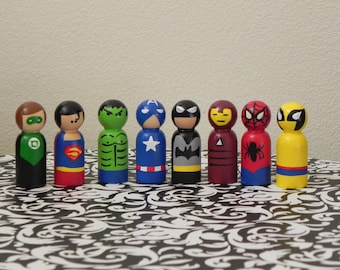 Super hero peg people