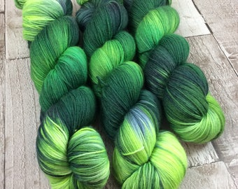 Hand dyed sock yarn superwash merino/nylon 'Lizard' shawl yarn/wool /hand painted/ uk dyer