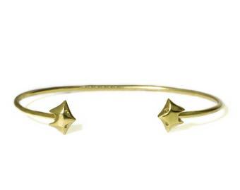 Fox Cuff Bracelet  in 18k Gold Plate