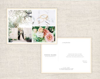 Wedding Photography Thank You Card Template - Photographer Thank You Card Template - Photo Card Templates - INSTANT DOWNLOAD