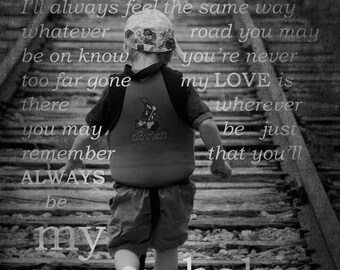 Custom Child's Photo and Lyrics- YOU Choose Photo and Lyrics- Unique Gift for Holidays, Mother's Day Gift, Father's Day Gift,  Birthday Gift