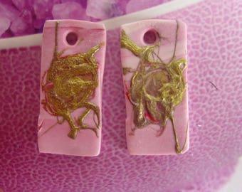 "CHARMS ""SPLATTER"" DESIGN EARRINGS"