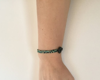 Single Woven Beaded Bracelet