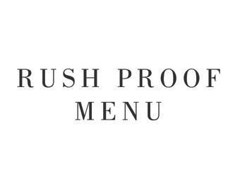 Rush Order - Wedding Menu - One Business Day Turnaround