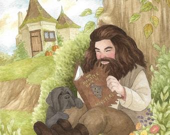 Hagrid Art Print
