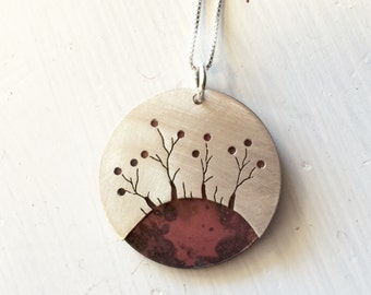 Cut Sterling Trees on Oxidized Copper