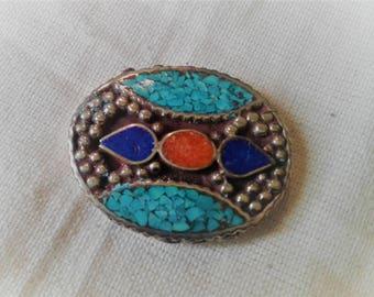 MULTISTRAND ethnic Nepal Tibetan bead