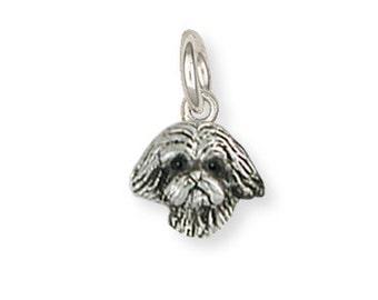 Silver Lhasa Apso Charm Jewelry  LSZ22H-C