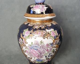 Vintage Porcelain Ginger Jar Cloisonne Design