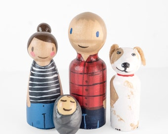 Custom Peg Family,  gift for mom, gifts for mothers day , mothers day gift, housewarming gift, custom peg figurines, new baby announcement