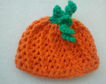Pumpkin hat, Crochet Pumpkin Hat, Halloween Photo Prop, Baby pumpkin Hat, Halloween Costume, Orange hat, Halloween Costume