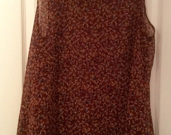 Brown Floaty Ladys Top