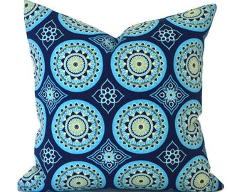 Blue Outdoor Pillows ANY SIZE Outdoor Cushions Outdoor Pillow Covers Decorative Pillows Outdoor Cushion Covers Best Pillow OD Sundial Navy