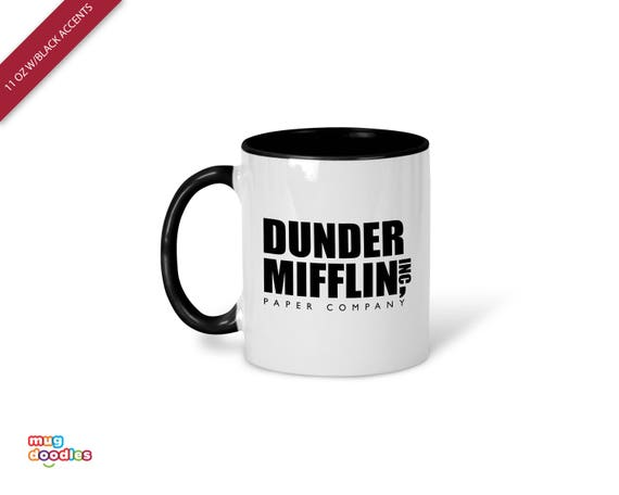 the office coffee mugs. Dunder Mifflin Inc, The Office, Mug, Office Coffee Gift, MD648 Mugs U