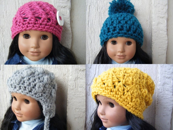 4 Easy Crochet Doll Hats Pattern