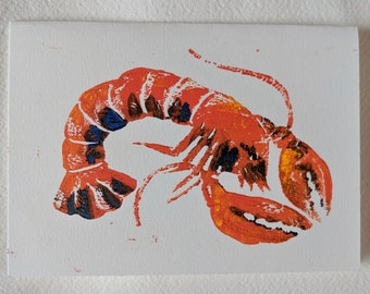 Larry the Lobster, plain greetings card.