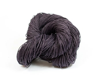 Paper Yarn - Paper Twine: Dark Purple / Aubergine - Knit, Crochet, Textile Arts, DIY Supply, Gift Wrap, Weave - Washable and Eco-Friendly