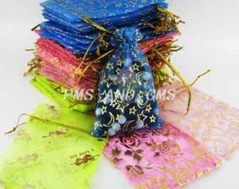 25 Assorted Color Organza Bags 10 x 12cm (B113i/344)