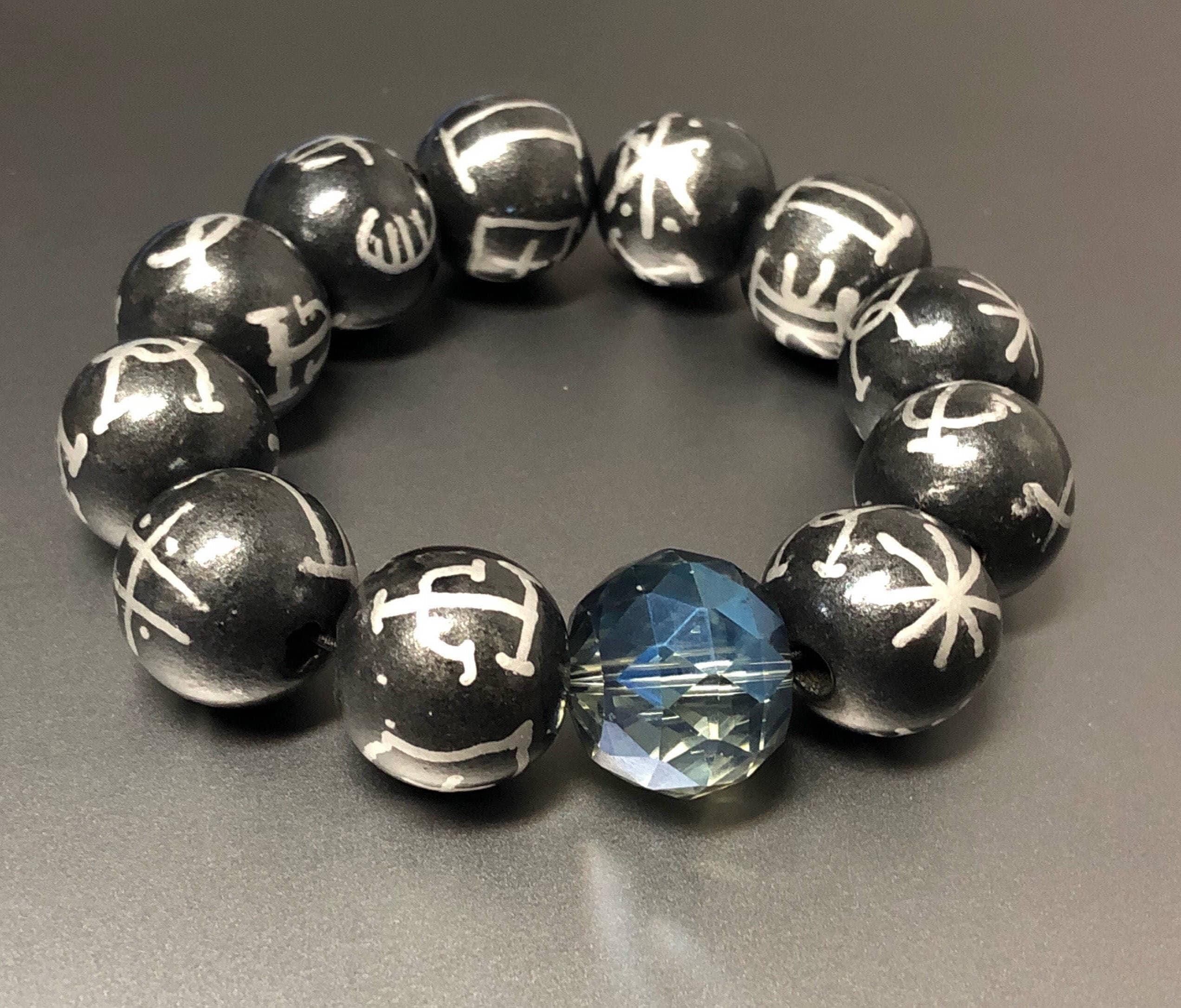 overstock mens on shipping s wide orders free adjustable black product beads bead bracelet natural lava watches over inches men jewelry polished healing stone bracelets
