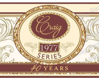 Birthday Cigar Bands - Custom Printed for you -  Cigar Labels for Wedding Party - Classy Cigar Bands - 16 Bands