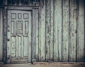 "Photograph Door Industrial Wall Fine Art Photo Business Graffiti Rust Brick Steel Decor  // ""Your Ship Has Sailed"" // 8x10 11x14 16x20 24x30"