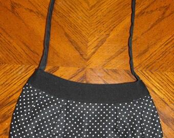 Black & White Polka Dot Print Small Buttercup Bag