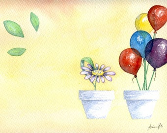 Balloons watercolor