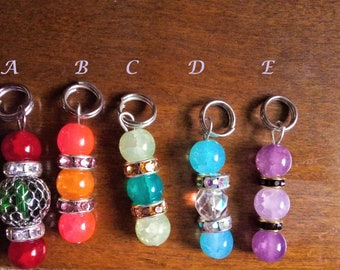 Sparkly Stitch Markers (set of 6)