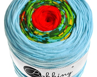 Rainbow t-shirt yarn recycled cotton 131yd (120m) long - BI-1889