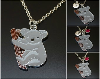 Koala Necklace, Koala Charm, Koala Pendant, Koala Jewelry, Koala Gift for Her, Koala Girl, Koala Women, Koala Bear Necklace, Koala Birthday