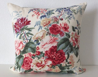 Laura Ashley English Country Shabby Chic Floral Pillow Cover