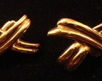 90's Paloma inspired gold plated earrings