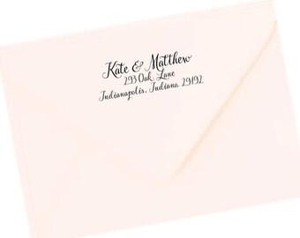 Return Address Labels, Transparent Return Address Stickers, Formal Address Stickers, Wedding Label, Family Label, Couples Return Label T37