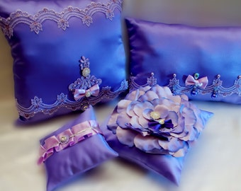 Quincenieras pillows set ( 3 custom pillows)