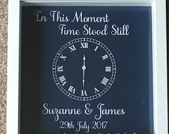 Personalised Wedding Frame, Wedding Gift, In This Moment, Bride & Groom, Anniversary Gift