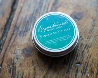 Balm the Tigress, ointment, Herbalism, pain, muscle relaxing, sunburn, after Sun