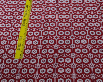 Essentials 10-Red Stars Cotton Fabric from Studio E Fabrics